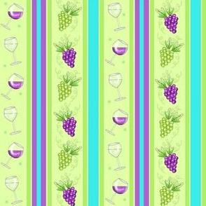Wine Stripe Green