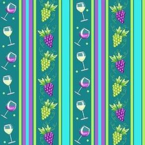 Wine Stripe Teal