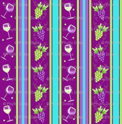 Wine Stripe Magenta Purple