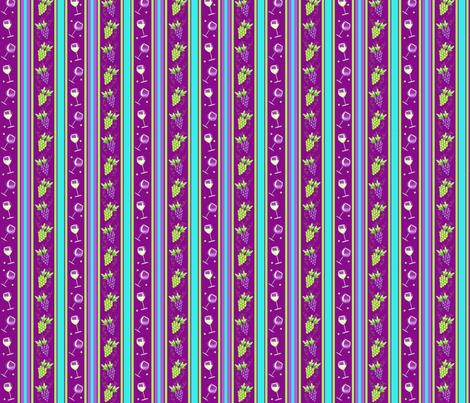 Wine Stripe Magenta Purple fabric by phyllisdobbs on Spoonflower - custom fabric