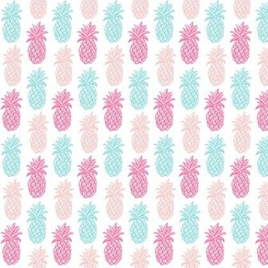 Pineapple pink and blue summer mini