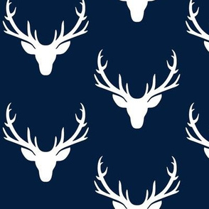 Navy + White Deer Antlers – Woodland Baby Nursery Kids Children baby Boy Bedding A