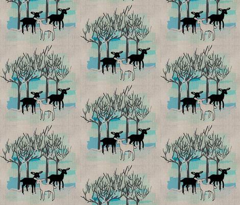 winter deer  fabric by dogdaze_ on Spoonflower - custom fabric