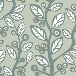 Berry Nice Vine-graygreen
