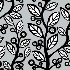 Berry Nice Vine-black /white