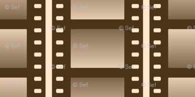 07053932 : film cell stripe : sepia