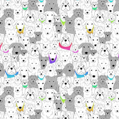 Menagerie of Marvelous Mutts - dogs in rainbow bandanas small