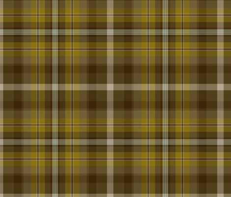 "Bonnie Prince Charlie tartan, gold, 10"" fabric by weavingmajor on Spoonflower - custom fabric"