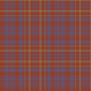 "Campbell of Loudoun plaid from portrait, 10"" weathered"