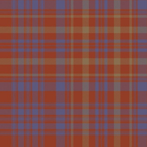 "Campbell of Loudoun plaid from portrait, 12"" weathered"