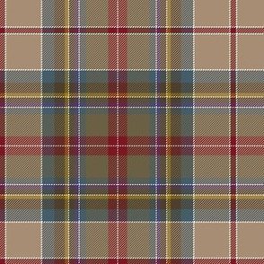 "Prince Charles Edward tartan, 18th century, 7"" weathered"