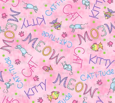 Cat Words Pink