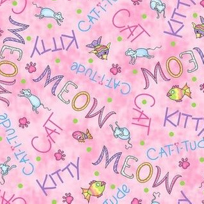 Cat Words Pink