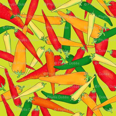 Hot Pepper Peppers Green