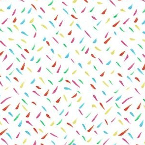 Multi-coloured Illustrated Rainbow Confetti Drawing