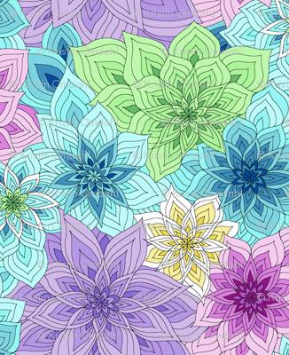 Green Gradation Floral