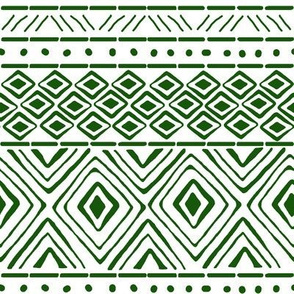 Ornate Green Mud Cloth // Small