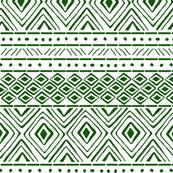 Tribal Mud Cloth No. 2 // Green