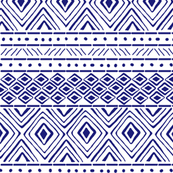 Tribal Mud Cloth No. 2 // Blue