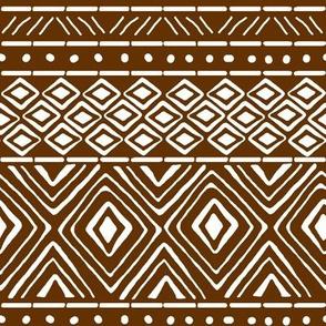 Ornate Mud Cloth - Brown // Small