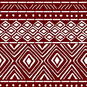 Ornate Mud Cloth - Maroon // Small