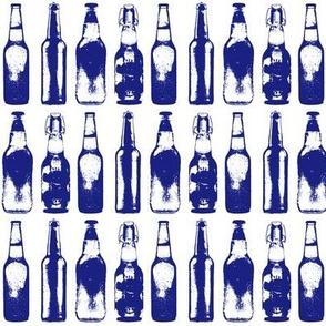 Blue Beer Bottles