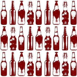 Burgundy Beer Bottles