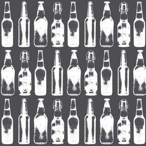 3d Beer Bottles // Grey