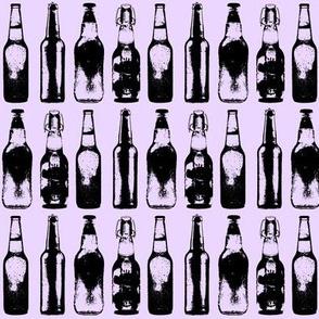 3d Beer Bottles // Lavender