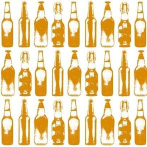 3d Beer Bottles // Orange
