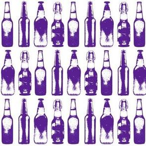 3d Beer Bottles // Purple