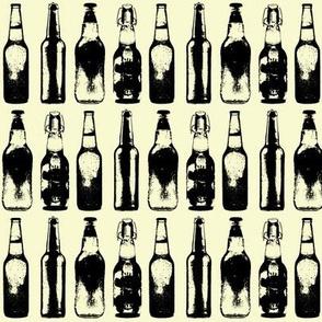 3d Beer Bottles // Pale Yellow