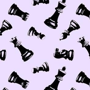 3d Chess Pieces // Lavender