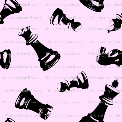 3D chess Pieces // Pink