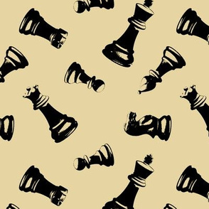 3d Chess Pieces // Tan