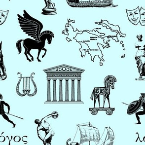 Ancient Greece // Light Teal