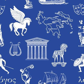 Ancient Greece // Dark Blue