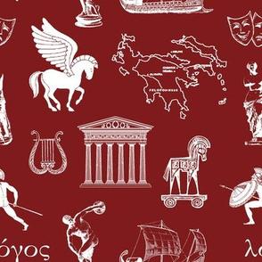 Ancient Greece // Maroon