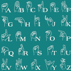 Sign Language Alphabet // Aqua