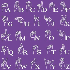 Sign Language Alphabet // Purple
