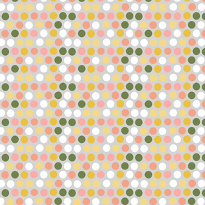 Gray pink spots and dots