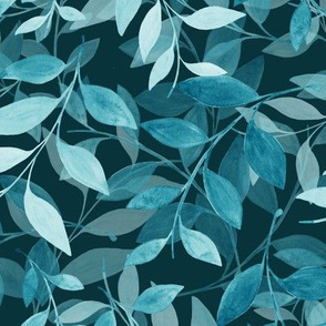 Transparent Leaf scatter - teal