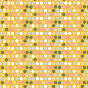 Bubbles, dots on yellow