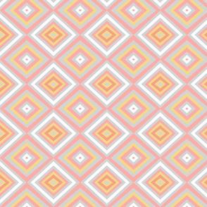 Retro pink gray plaid