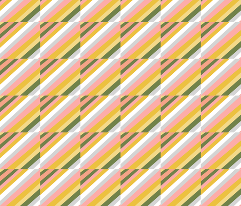 Retro warm colors plaid fabric by palusalu on Spoonflower - custom fabric