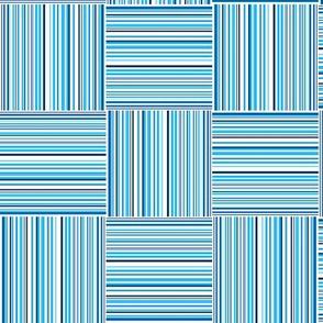 stripes squares in light blue