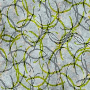 twiddled green lines on gray