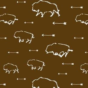 Buffalo Hunt // Brown // Small