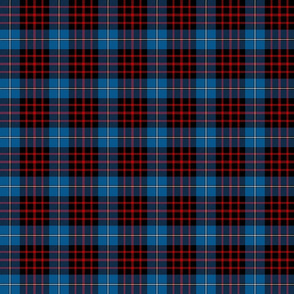 "MacKeane blue tartan, 3"" bright"