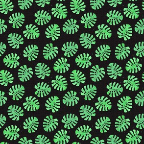 Monstera block printing